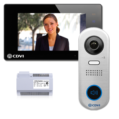 CDVI CDV4791-DX-B 2Easy 2 wire hands free wifi Door Entry kit